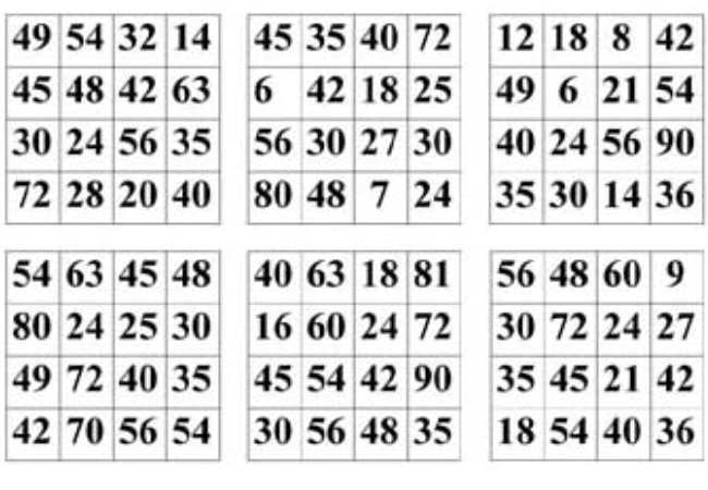 Bingo spiel zum ausdrucken
