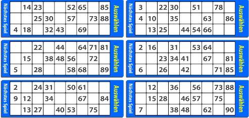 Bingo Karten Bis 90 Zum Ausdrucken